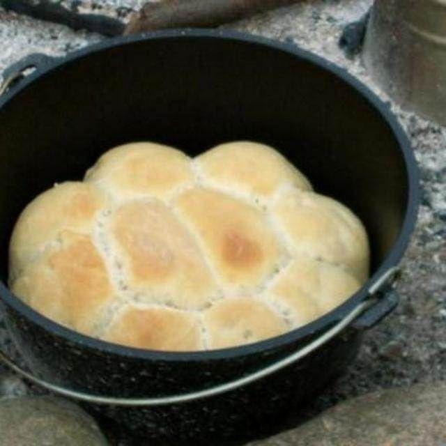 Bread in a pot.