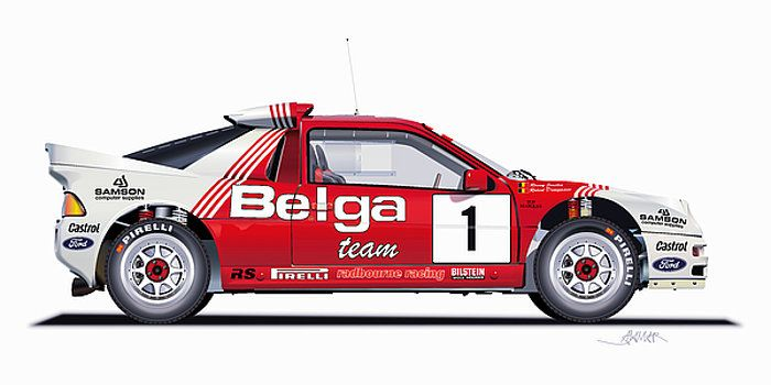 Ford Rs 200 Belga Team Illustration