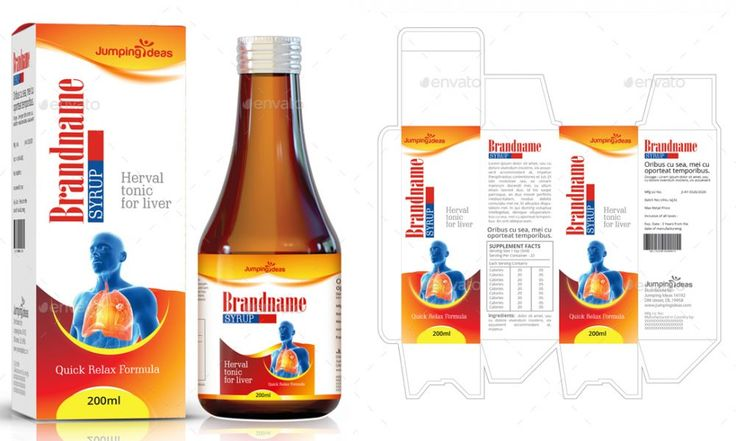 Syrup Label and Box Templates