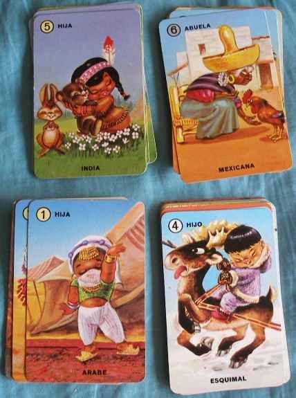 Baraja de cartas de Familias del mundo - Juegos y juguetes de los años 70/80