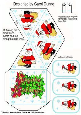 Christmas Pyramid Box on Craftsuprint - View Now!