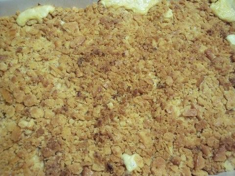 Good and easy chicken delight casserole. I will add stuffing to the bottom and keep the cracker crumbs on top.