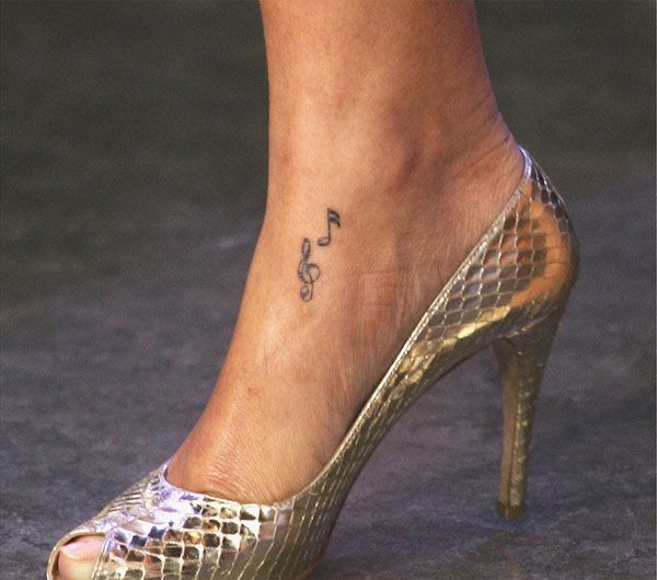 Rihanna's tattoo: music notes