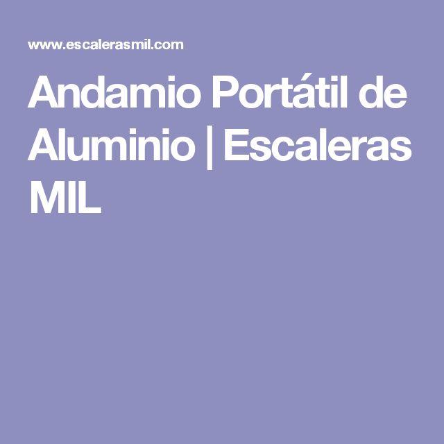 Andamio Portátil de Aluminio | Escaleras MIL