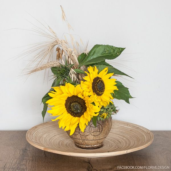 Centerpieces with Sunflowers