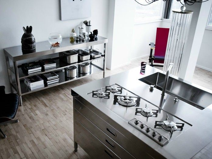 ISOLA CUCINA 130 (1) Modulo cucina in acciaio inox by ALPES-INOX