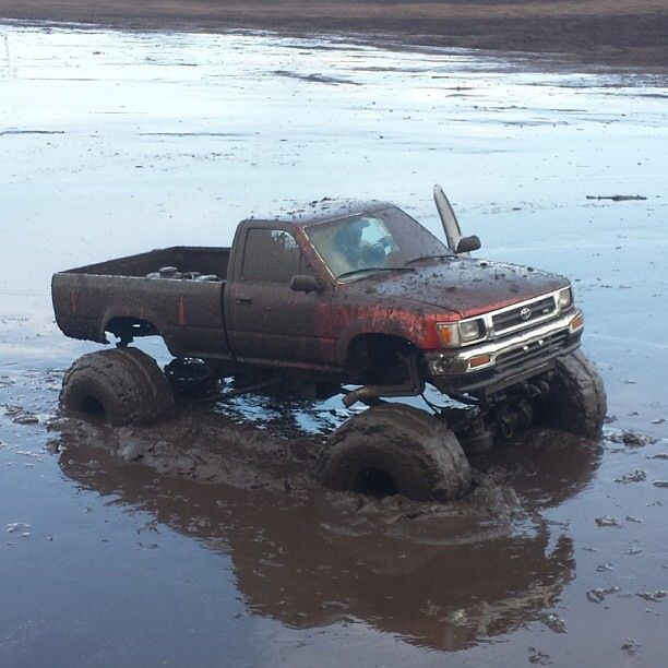 Toyota Mud Truck - Have some fun, the snow is melting, won't stick just yet.  Make a splash!