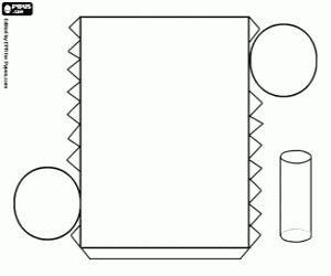 malvorlagen Zylinder mit einem Kreis als Basis ausmalbilder