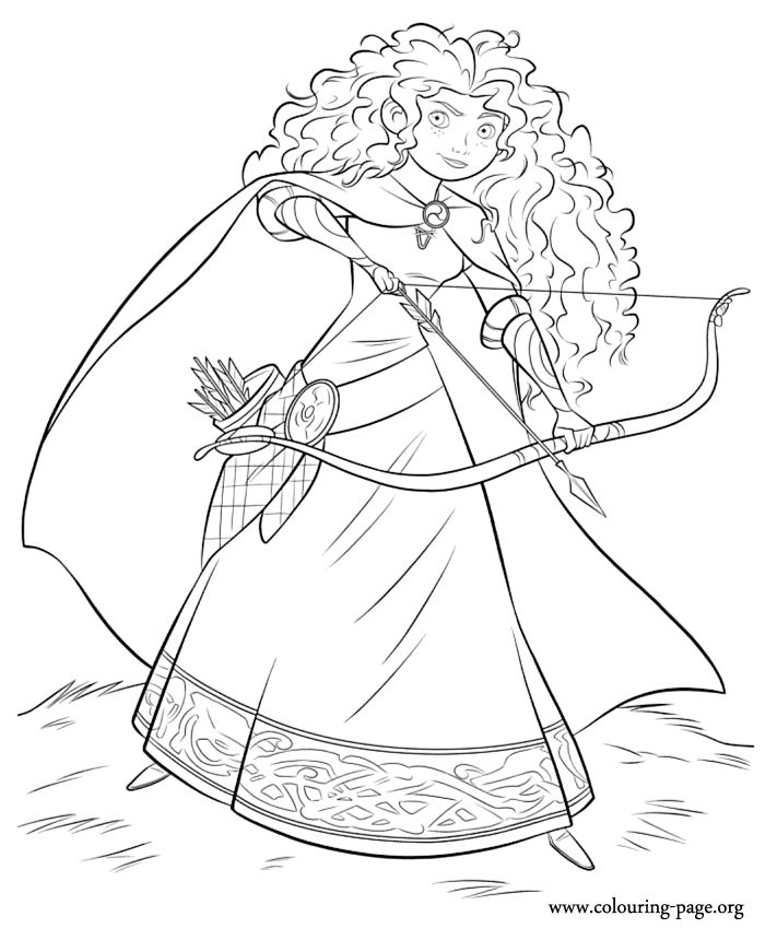 What About Coloring Merida Shes A Daring Scottish Princess In The Latest Disney Pixar