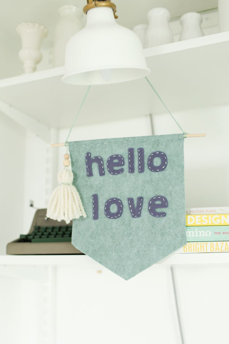 5 steps to create a felt banner that shows your love.  thedempsterlogbook.com