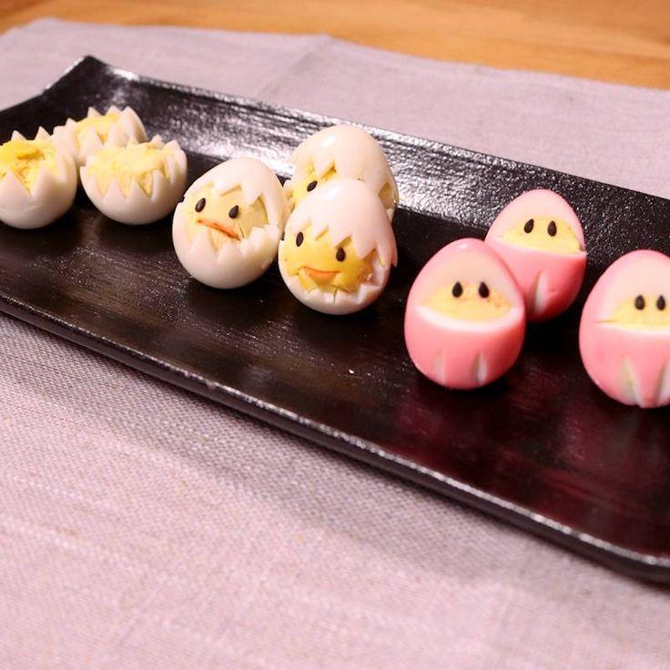 「うずらの卵の飾り切り 3種」の作り方を簡単で分かりやすい料理動画で紹介しています。お弁当を可愛らしく仕上げたい時に、うずらの卵の飾り切りはいかがでしょうか。 忙しい朝でも、とても簡単に短時間で作れるので、お弁当の隙間を埋めるのにもぴったりな一品です。 パーティーの時などにも、ぜひお試しくださいね。