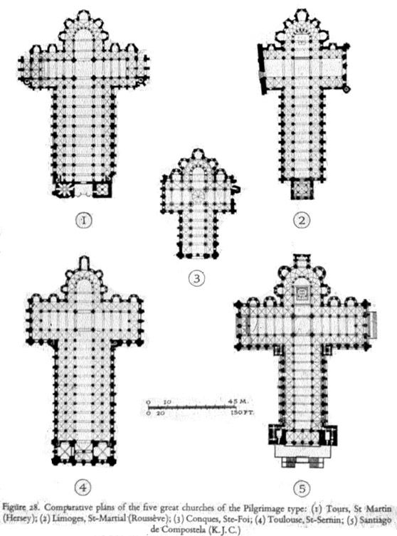 Pilgrimage Church Plans of Churches in France & Spain 11