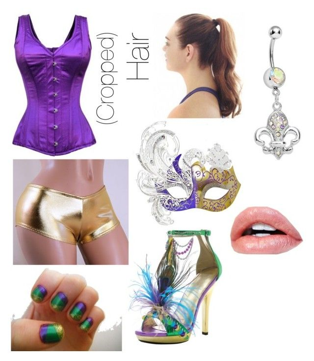 """""""Kat's Mardi Gras Outfit #1 (FOR TUMBLR RP)"""" by katrenakearns ❤ liked on Polyvore featuring Masquerade"""
