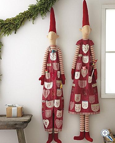 advent calendar elf - garnet hill