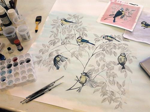 beautiful birds: Bluetit Paintings