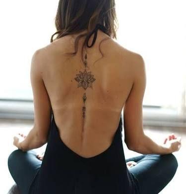 Resultado de imagem para flor de loto significado tatuaje espalda