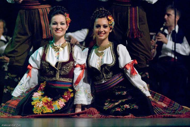 Šumadija area , central Serbia Serbian folk costume =ansambl KOLO