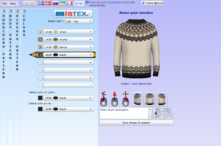 Genius knitting website that lets you design your own Lopapeysa (Icelandic wool sweater) patterns. And it's FREE!