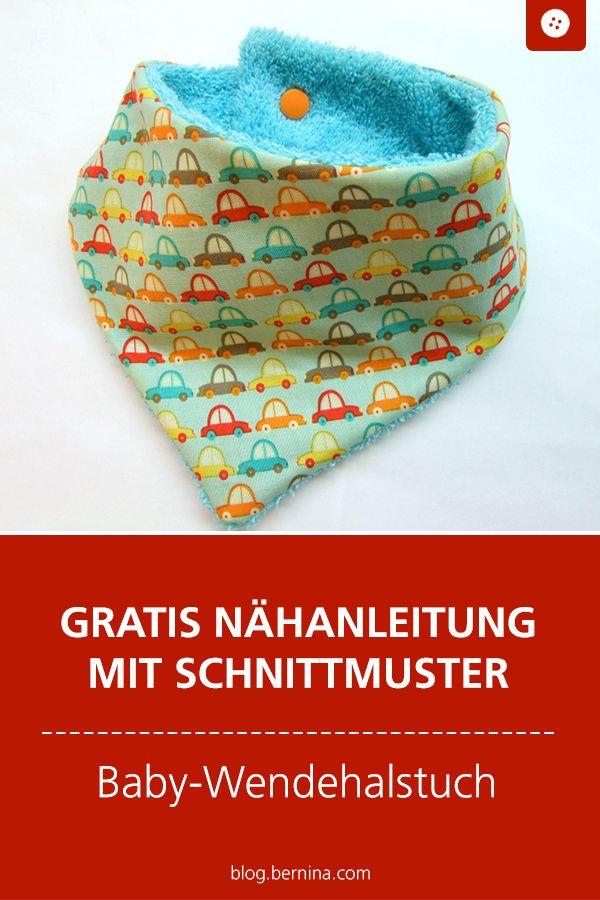 Nähanleitung und Schnittmuster Baby-Halstuch – Schnittmuster