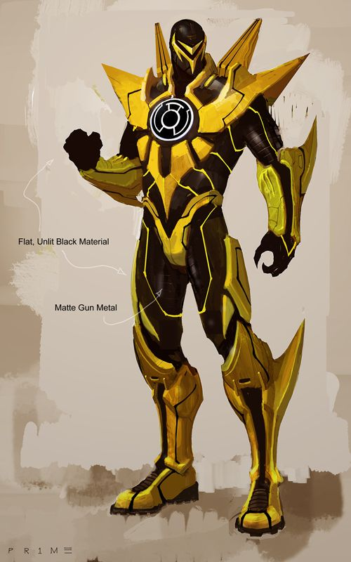 Yellow Lantern concept art