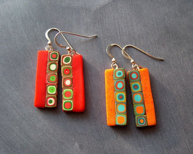 Polymer clay earrings ~~~ the possibilities are endless!!!