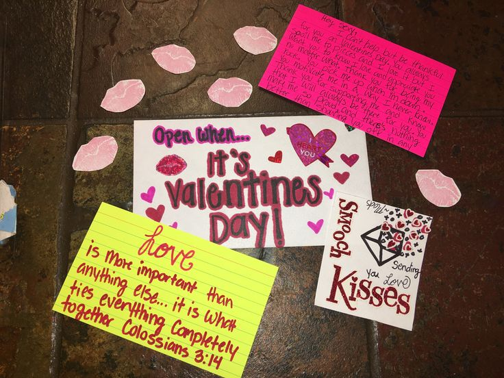Open when its Valentine's Day.  Bible verse- Love, it is more important than anything else...it is what ties everything completely together. Colossians 3:14