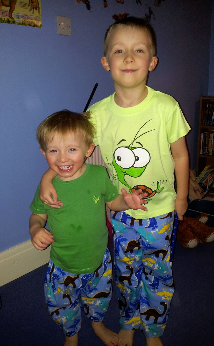 Cool dino dudes! Cotton trousers in different sizes and fabrics from www.ourbabyneeds.com