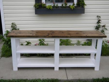 Rustic X Console | Do It Yourself Home Projects