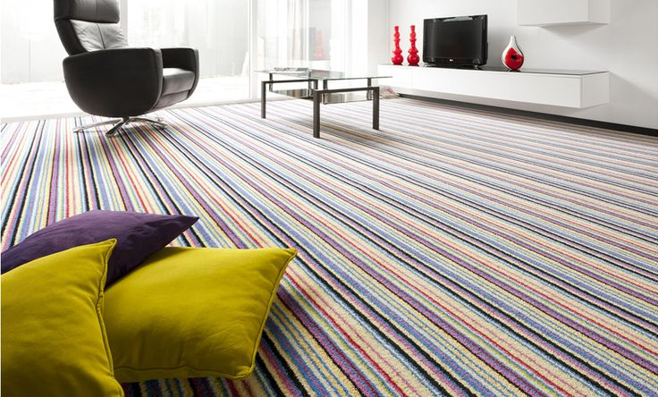 Stripe Carpets rainbow tom dempsey