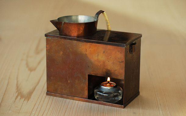 銅の酒燗器(横型)とチロリセット|器|HIGASHIYAオンラインショップ
