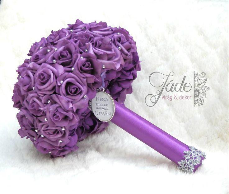 Lila-ezüst menyasszonyi csokor csokorcharmmal #lila #ezüst #menyasszonyi #csokor #Esküvő #ékszercsokor #örökcsokor #habrózsa #purple #lilac #bridal #bouquet #wedding #broochbouquet #bridalbouquet #bouquet #silver #csokorcharm #rose #rózsa #JadeVirag