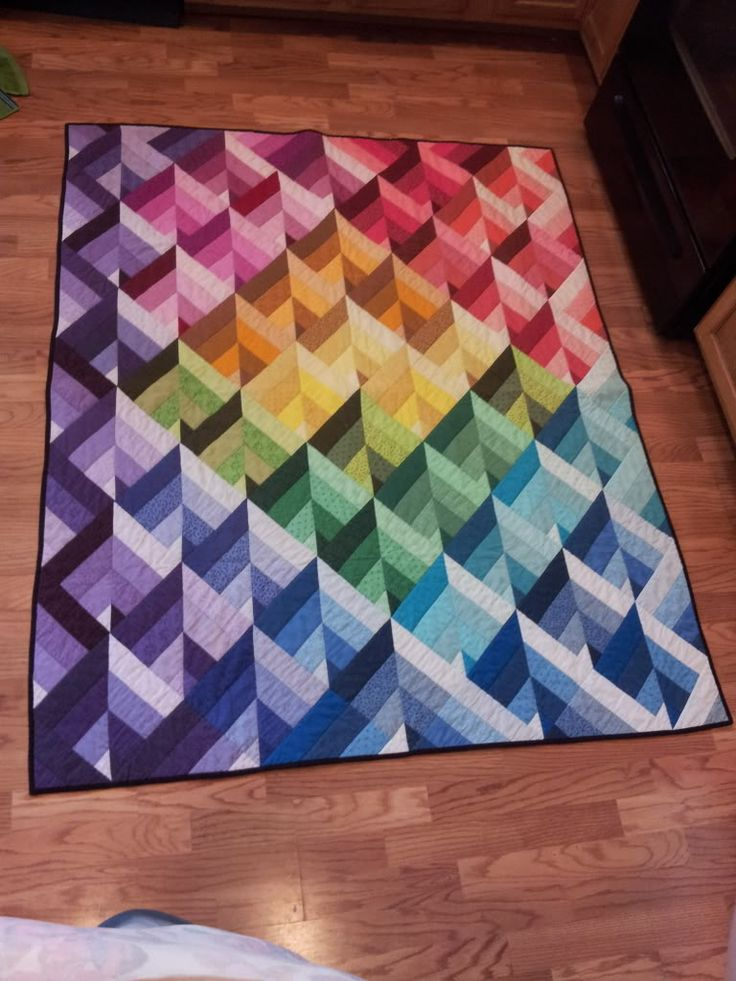 Fun quilt found at the thrift store!