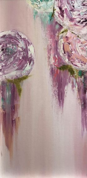 "The perfect Valentin'e Day gift...a Brittni Hall painting! ""Abstract Flowers"" $200."