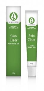 Kiwiherb :: Skin Clear Gel - High potency acne relief gel which helps with prevention and clearing of pimples.