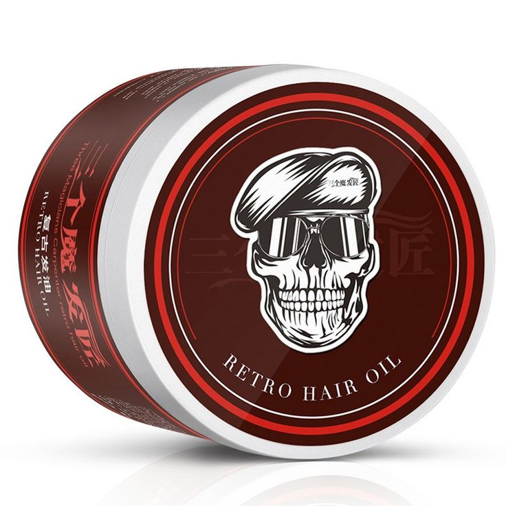 Retro Hair Oil Pomade Strong style restoring Pomade Hair wax skeleton cream slicked oil mud keep hair