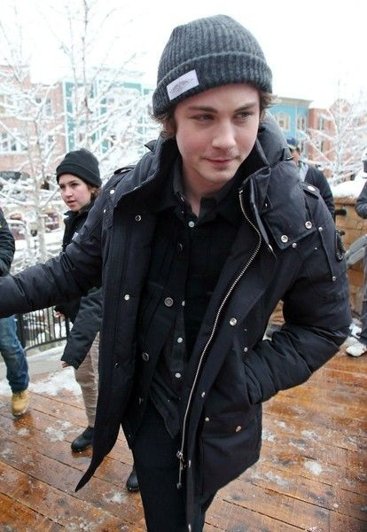 Logan Lerman Photos - Celebrities out and about in Park City, Utah on January 24, 2016. The group is attending the 2016 Sundance Film Festival, which is running from January 21-31.  Pictured: Logan Lerman - Celebrities Out And About At The Sundance Film Festival