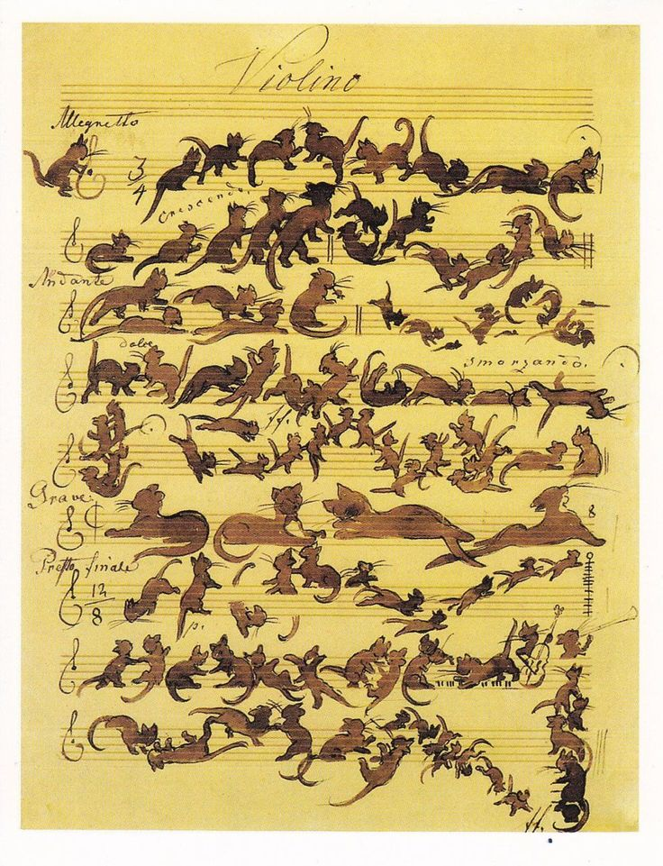 The Cats Symphony, by Moritz von Schwind, 1868: Cat Art, Die Katzensymphoni, Cat Illustrations, Cat Music, Art Humor, Sheet Music, Moritz Von, Von Schwind, Cat Symphony