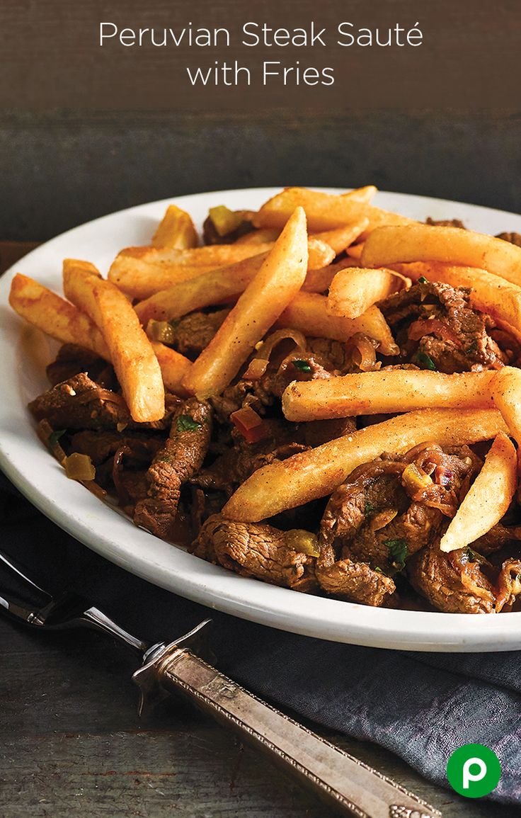 This is how they do meat and potatoes down south, way down south. Try our Peruvian Steak Sauté with Fries.