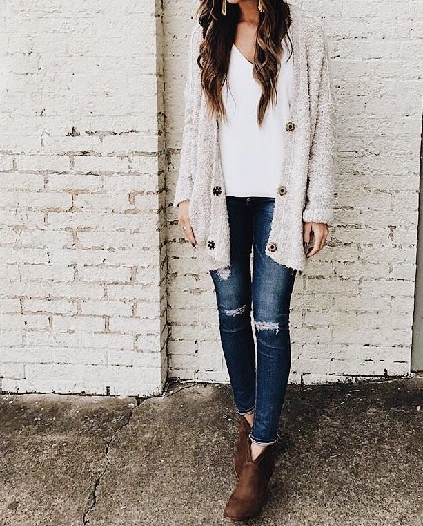 Find this Pin and more on lookbook. - 25+ Best Ideas About Cream Cardigan On Pinterest Bauble Necklace