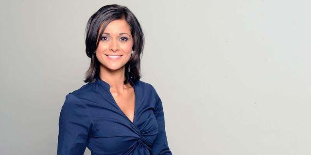 Lucy Verasamy on ITV weather news