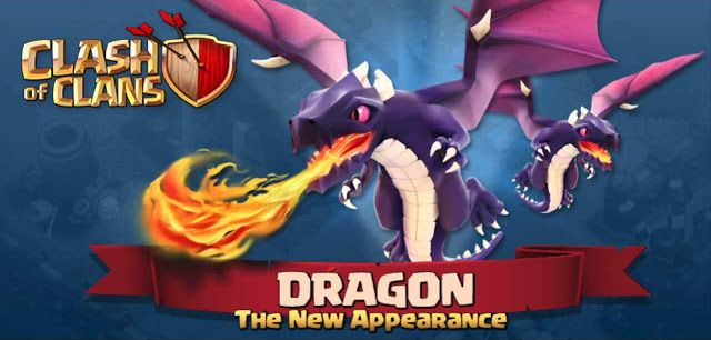 """Mengenal Bentuk dan Tipe Serang """"Dragon"""" di Clash of Clans COC"""
