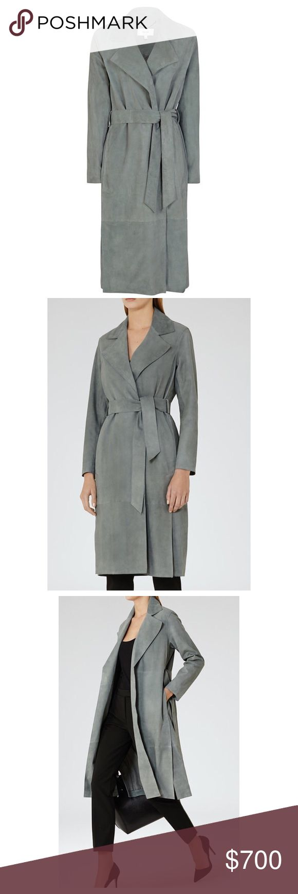 Brand new Reiss suede trench coat Super chic soft suede trench coat. It is fully lined and perfect for the spring. All offers are welcome! This piece is a must! Reiss Jackets & Coats Trench Coats