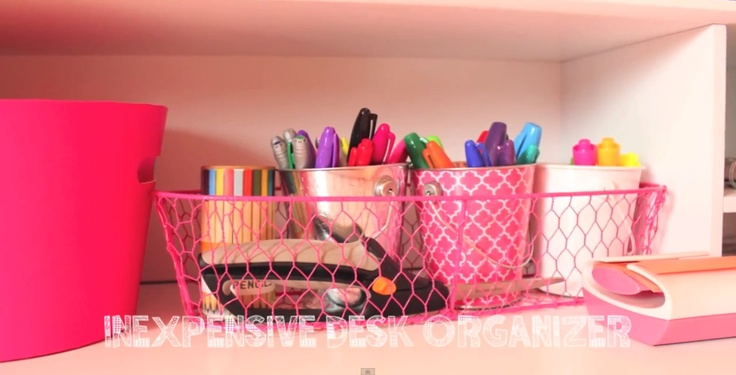 Organize desk supplies.. If I'm not mistaken this is from a Bethany mota YouTube video