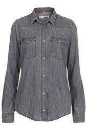 MOTO Grey Fitted Shirt