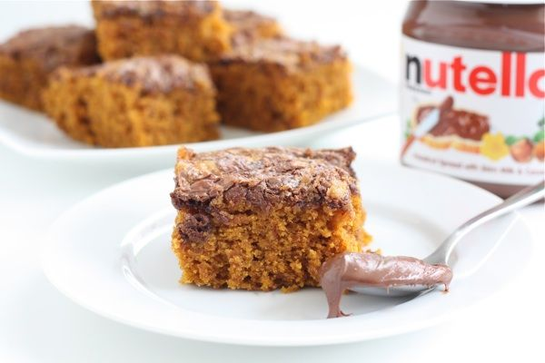 Pumpkin Nutella Snack Cake: Nutella Cakes, Meatloaf, Pumpkin Nutella, Cakes Recipe, Yummy Treats, Favorite Recipe, Snacks Cakes, Nutella Recipe, Nutella Snacks