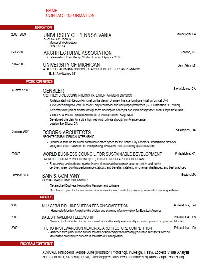 16 best Free Microsoft Word Resume Templates images on Pinterest - architectural resume examples