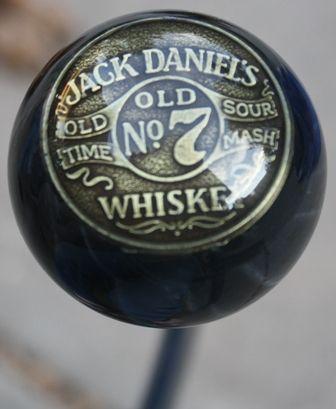 HouseOspeed - Hot Rod Shift Knob - Vintage Jack Daniel's Old No 7 Whiskey Shift Knob, $95.00 (http://www.hotrodshiftknob.com/vintage-jack-daniels-old-no-7-whiskey-shift-knob/)