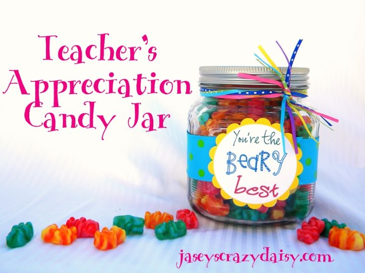 You're the Beary Best Teacher Appreciation Gift {with free printable} | Jasey's Crazy Daisy