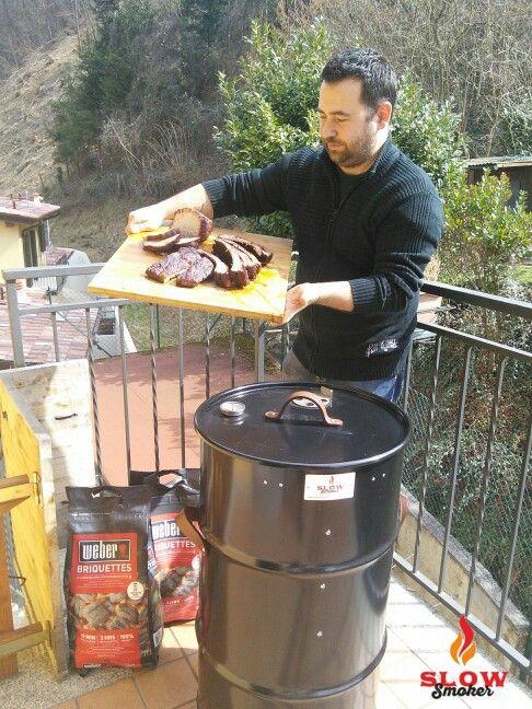 Slow Smoker Barrel Cooker