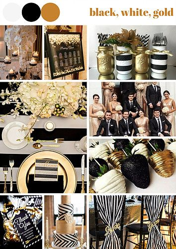 A black theme wedding is always cool. Decorating the reception to be black, white and gold colours to makes the guests feel like they are in the theatre.